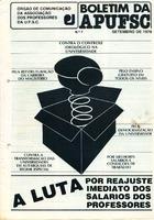 Boletim APUFSC - Setembro 1979
