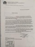 Carta de vereador ao comandante do exército